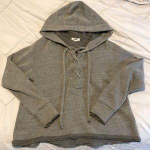LNA lace up hoodie S